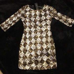 Sequin triangle party dress